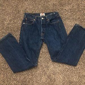 High Waisted 501 Levi Pants